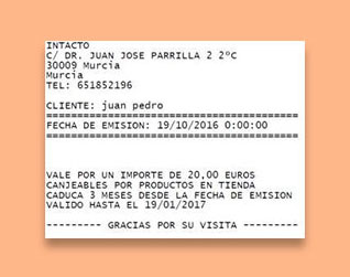 Devolver Ticket en TPV inTacto RED